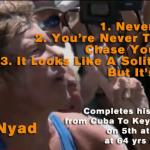 Diana Nyad - never give up